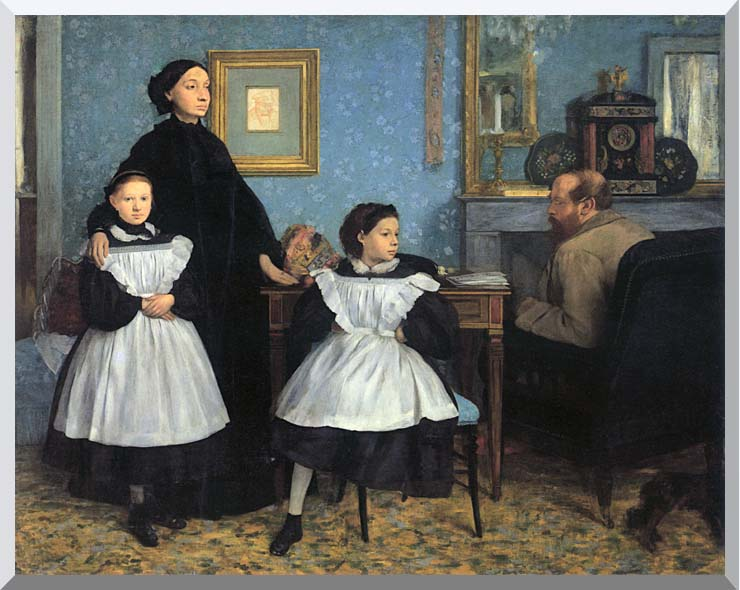 Edgar Degas The Bellelli Family stretched canvas art print