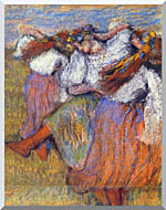 Edgar Degas The Russian Dancers stretched canvas art