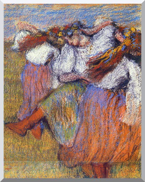 Edgar Degas The Russian Dancers stretched canvas art print