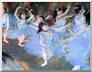 Edgar Degas The Star Dancers Detail stretched canvas art