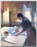 Edgar Degas La Repasseuse stretched canvas art