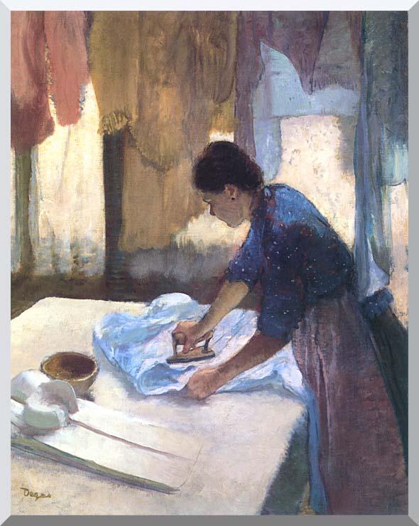 Edgar Degas La Repasseuse stretched canvas art print