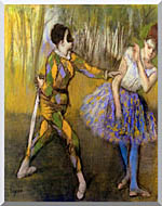 Edgar Degas Harlequin And Colombina stretched canvas art