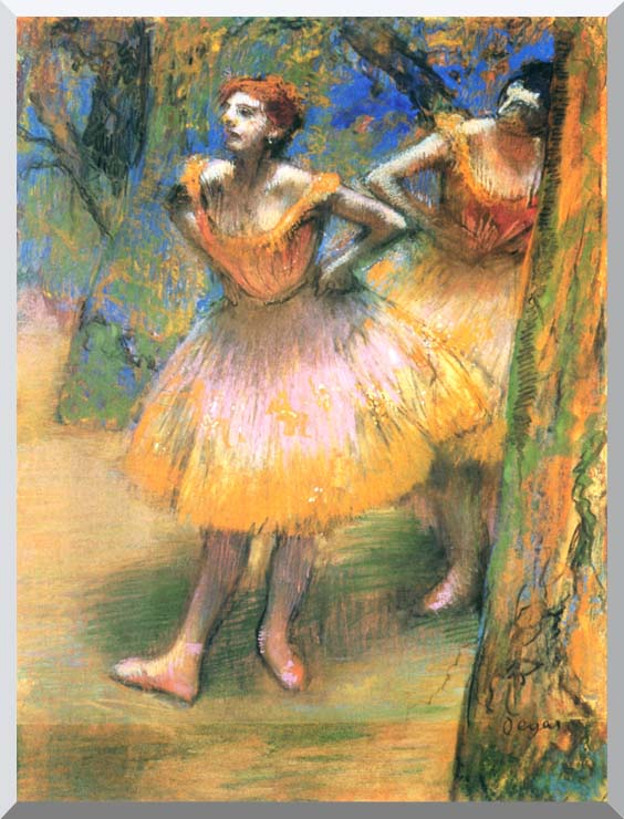 Edgar Degas Two Dancers stretched canvas art print