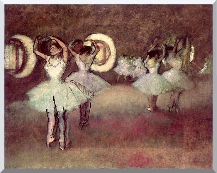 Edgar Degas Dancers in the Foyer stretched canvas art print