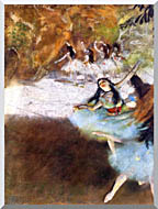 Edgar Degas Ballet On The Stage stretched canvas art