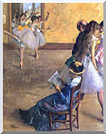 Edgar Degas The Ballet Class stretched canvas art