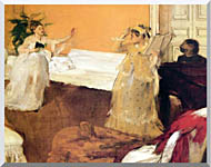 Edgar Degas The Song Rehearsal stretched canvas art