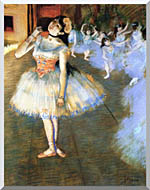 Edgar Degas The Star Impressionist Art stretched canvas art