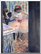 Edgar Degas Dancer In Her Dressing Room stretched canvas art