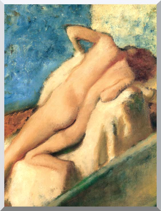Edgar Degas Nude Woman after the Bath stretched canvas art print
