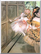 Edgar Degas Impressionist Dancers In The Wings stretched canvas art