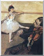 Edgar Degas The Dance Lesson stretched canvas art