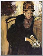 Edgar Degas Miss Cassatt Holding Cards stretched canvas art
