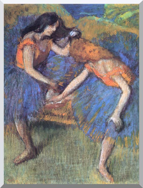 Edgar Degas Degas Ballerinas stretched canvas art print