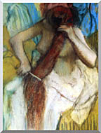 Edgar Degas Nude Woman Combing Her Hair stretched canvas art