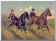 Currier And Ives A Champion Horse Race stretched canvas art