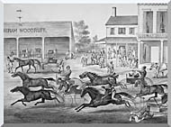 Currier And Ives Coming From The Trot   Sports On The Home Stretch stretched canvas art