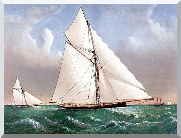 Currier and Ives Cutter Genesta, RY stretched canvas art print
