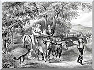 Currier And Ives Haying Time The First Load stretched canvas art