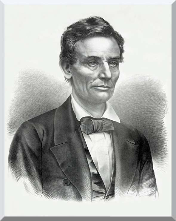 Currier and Ives Hon. Abraham Lincoln of Illinois stretched canvas art print
