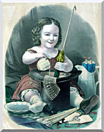 Currier And Ives Little Girl Into Mischief stretched canvas art