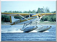 U S Fish And Wildlife Service Float Plane In Water stretched canvas art