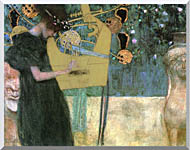 Gustav Klimt Music I stretched canvas art