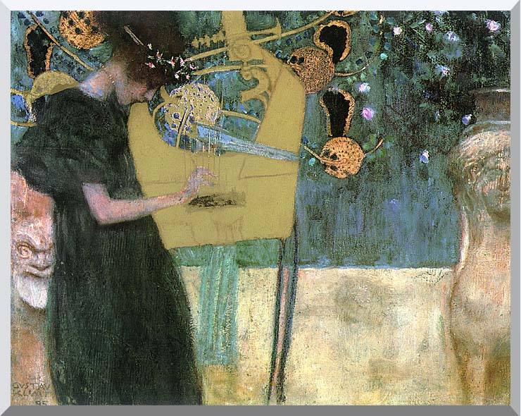 Gustav Klimt Music I stretched canvas art print