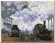 Claude Monet Gare Saint Lazare Arrival Of A Train stretched canvas art