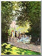 Claude Monet Parisians Enjoying The Parc Monceau Paris stretched canvas art