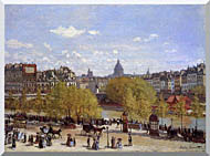Claude Monet Quai Du Louvre Paris stretched canvas art