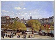 Claude Monet Quai Du Louvre Paris stretched canvas art