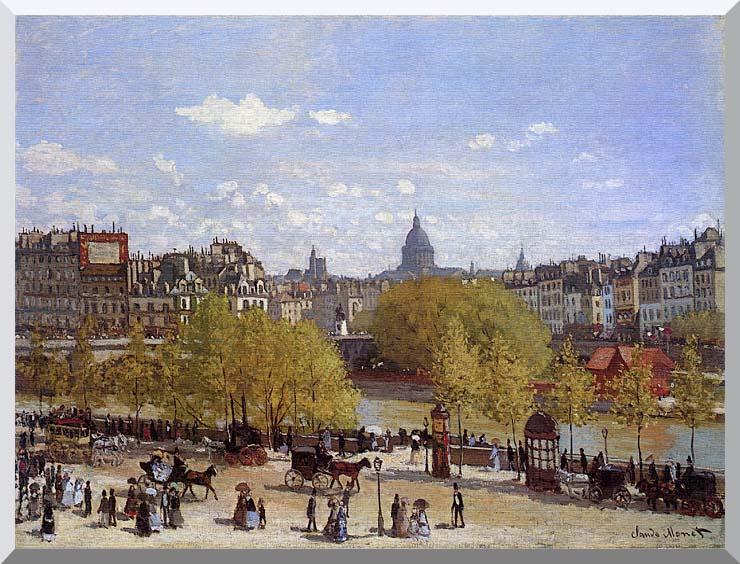 Claude Monet Quai du Louvre, Paris stretched canvas art print