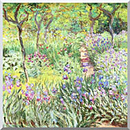 Claude Monet Claude Monets Iris Garden At Giverny stretched canvas art