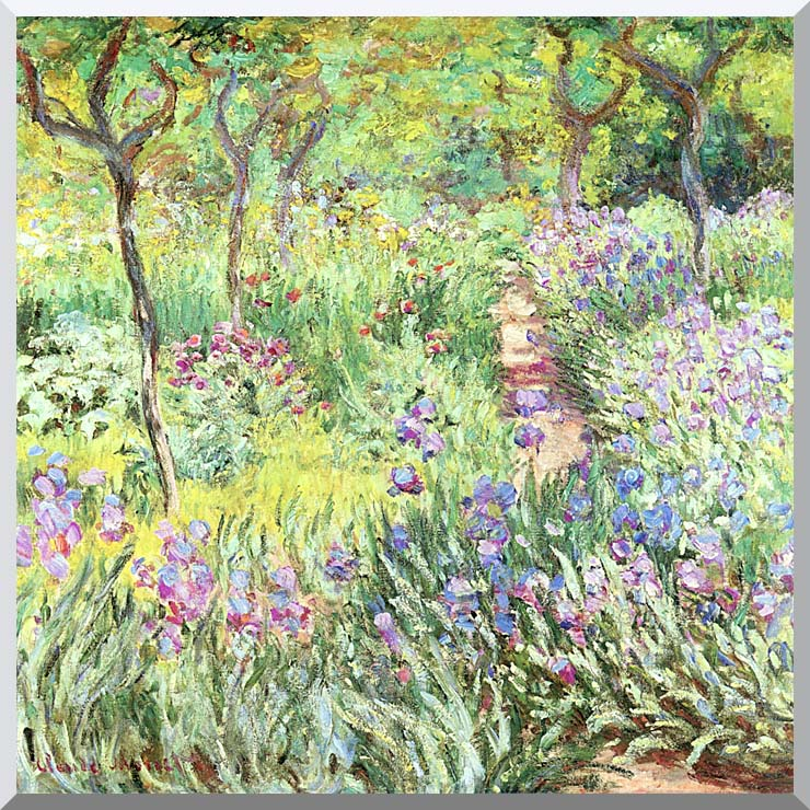 Claude Monet Claude Monet's Iris Garden at Giverny stretched canvas art print