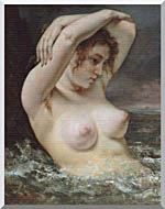 Gustave Courbet Woman In The Waves stretched canvas art
