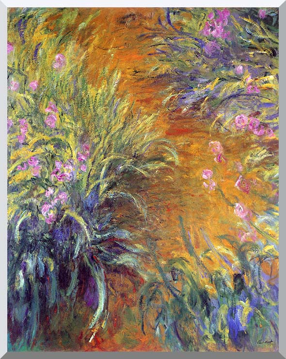 Claude Monet The Path Through the Irises stretched canvas art print