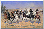 Frederic Remington A Dash For The Timber stretched canvas art