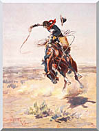 Charles Russell A Bad Hoss stretched canvas art