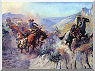 Charles Russell A Mix Up stretched canvas art