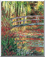 Claude Monet Water Garden And Japanese Footbridge stretched canvas art