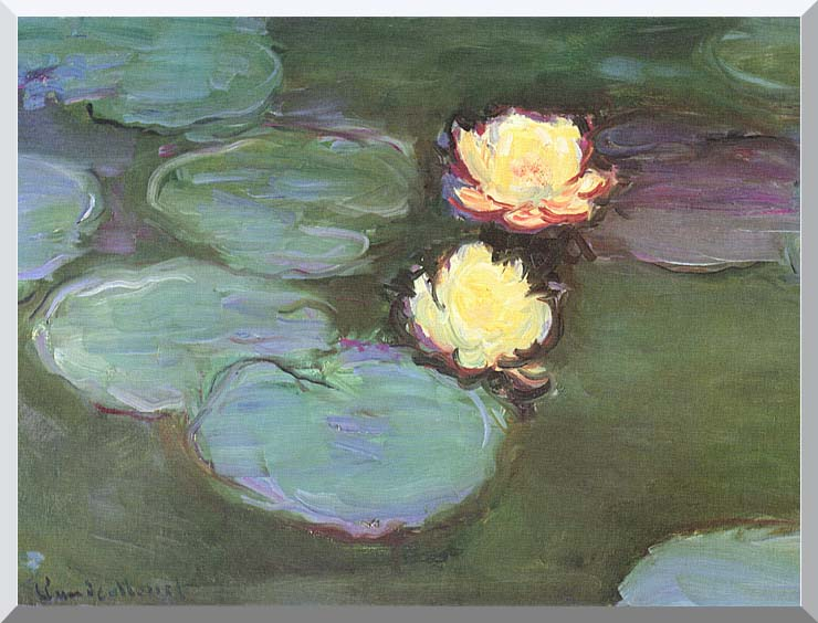 Claude Monet Green Water Lilies stretched canvas art print