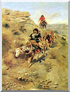 Charles Russell Bringing Home The Meat stretched canvas art