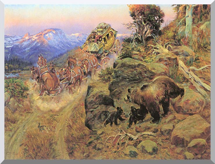 Charles Russell Bruin not Bunny Turned the Leaders stretched canvas art print