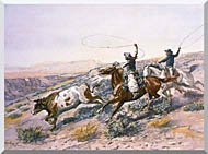 Charles Russell Buccaroos stretched canvas art