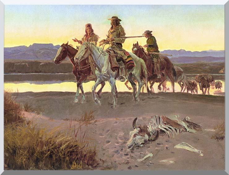 Charles Russell Carson's Men stretched canvas art print