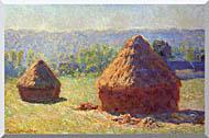 Claude Monet Haystacks stretched canvas art