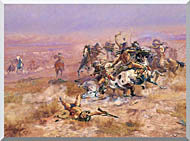 Charles Russell Counting Coup stretched canvas art