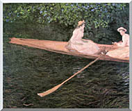 Claude Monet A Canoe On The Epte River stretched canvas art